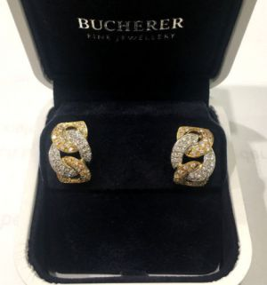 BUCHERER Ohrclips 18kt Bicolor Gold 112 Brillianten