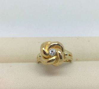 NIESSING Ring 14kt Gelbgold 0.10ct Brillant RW52