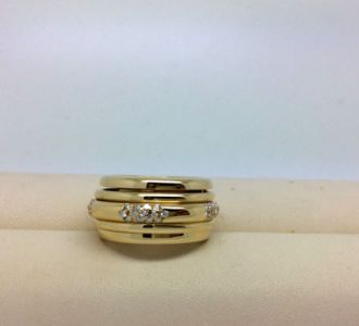 PIAGET Possession Ring 18kt Gelbgold 12mm 65 Brillianten RW55